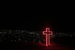 Cross Lighted